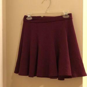 Small Maroon Skater Skirt